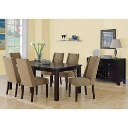 Taupe Linen Fabric 40-inch Dining Chairs (Set of 2)