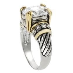 Journee Collection Two-Tone Oval-cut Cubic Zirconia Ring