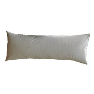 Ticking Stripe Goose Down/ Feather Blend Body Pillow