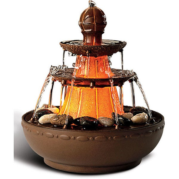 Salt Lamps Fountain Gate : Homedics EnviraScape Old Napoli Illuminated Relaxation Fountain - 13883555 - Overstock.com ...