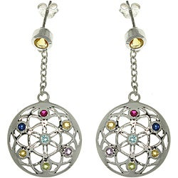Carolina Glamour Collection Sterling Silver Flower of Life Earrings