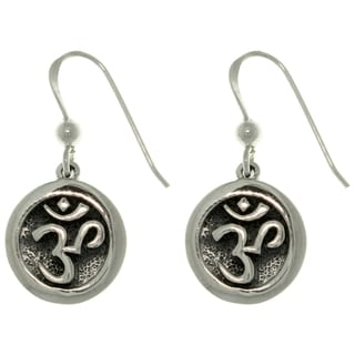 Carolina Glamour Collection Sterling Silver Om Meditation Earrings
