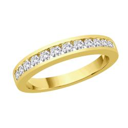 14k Yellow Gold 1/2ct TDW Diamond Wedding Band (I-J, SI) (Size 6.75)