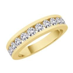 14k Yellow Gold 1ct TDW Diamond Wedding Band (I-J, SI) (Size 6.75)