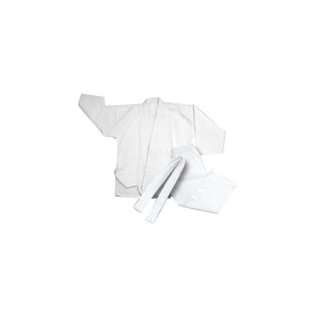 Youth Lightweight White Polyester-cotton-blend Karate Uniform