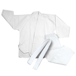 Youth Lightweight White Polyester-cotton-blend Karate Uniform