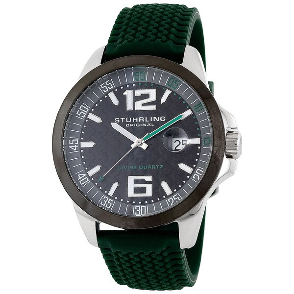 Stuhrling Original Men's Black-Dial Monterey Bay Swiss Quartz Watch