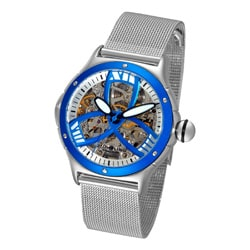 Stuhrling Original Women's Alpine Girl Automatic Watch with Skeletonized Dial