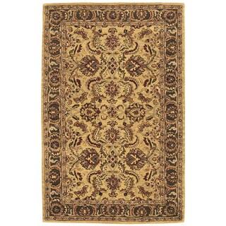 Nourison Hand-tufted Caspian Gold Wool Rug (5' x 8')