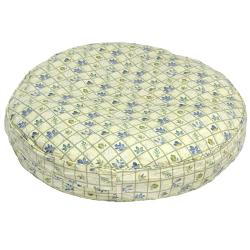 Scooter Deluxe Small Round Dog Bed with Leaf Pattern