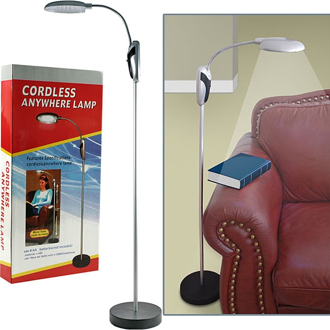 Trademark Home Cordless LED-light Portable Lamp Stand