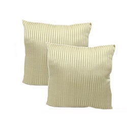 Pinstripe 18-inch Throw Pillows (Set of 2 )