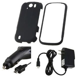 Black Case/ Car and Travel Charger for HTC myTouch 4G Slide