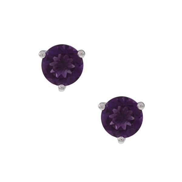 Oro Leoni Silver Peridot, Amethyst and Created Pink Sapphire Earring Set