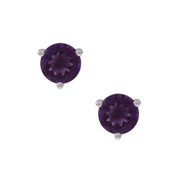 Oro Leoni Silver Peridot, Amethyst and Created Pink Sapphire Earring Set