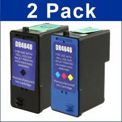 Dell All-in-One 944/ 962/ 964 Black/ Color Ink Cartridge (Pack of 2) (Remanufactured)