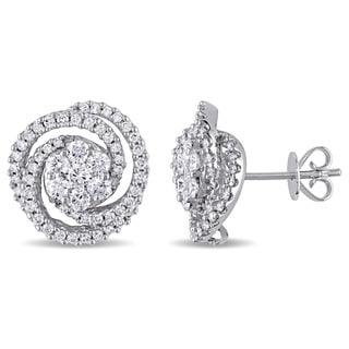 Miadora 14k White Gold 1 1/2ct TDW Diamond Stud Earrings (G-H, SI1-SI2)