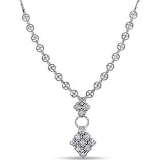Miadora Signature Collection 18k White Gold 2ct TDW White Diamond Necklace (G-H, SI1-SI2)
