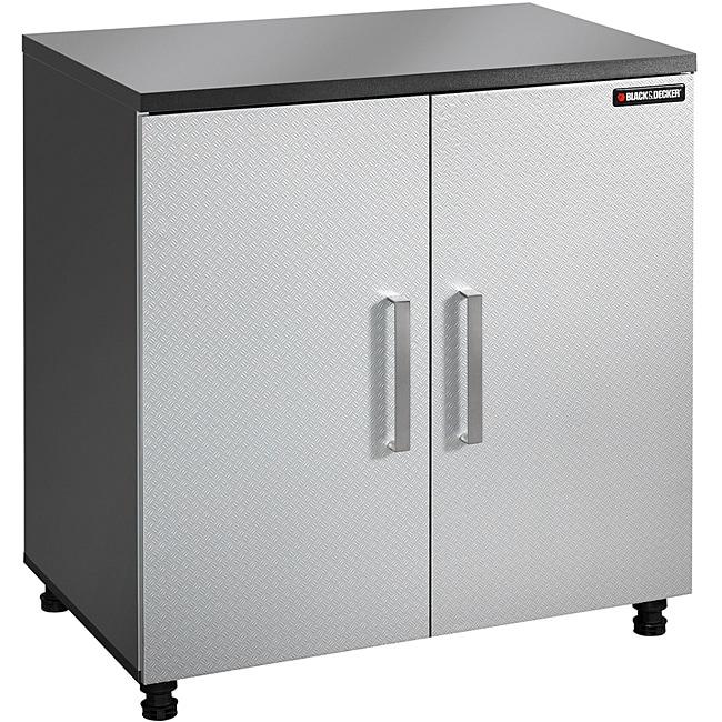 Black & Decker Garage and Workshop 2-Door Chrome Tool and Storage Base Cabinet