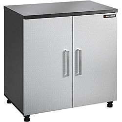 Black & Decker Garage and Workshop 2-Door Chrome Tool and Storage Base Cabinet