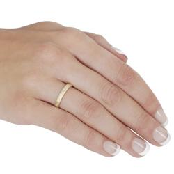 Tressa Gold over Sterling Silver Cubic Zirconia Ring