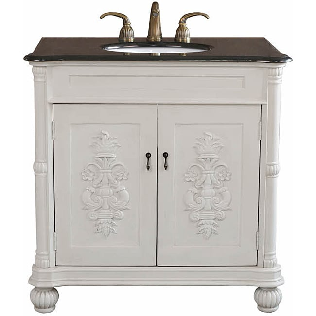 Grande Antique White Bathroom Vanity 13885966