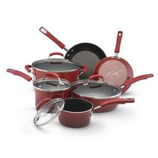 Rachael Ray II Red Porcelain Enamel Nonstick 10-piece Cookware Set
