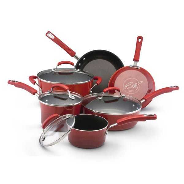 Rachael Ray II Red Porcelain Enamel Nonstick 10-piece Cookware Set **With $20 Mail-in Rebate**