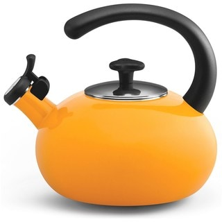 Rachael Ray 'Curve' Yellow 2-quart Tea Kettle