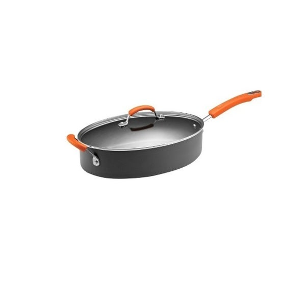 Rachael Ray II Hard-anodized Nonstick 5-quart Covered Oval Saute Pot 8435170