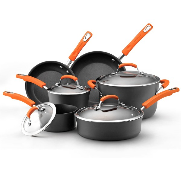 Rachael Ray II Hard-anodized Nonstick 10-piece Cookware Set
