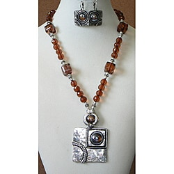 'Picasso on the Rocks' Necklace and Earring Set