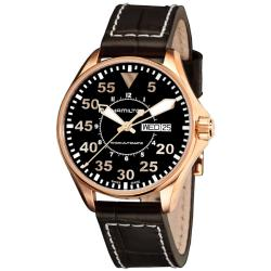 Hamilton Men's Khaki Aviation Pilot Rose Gold PVD Automatic Watch