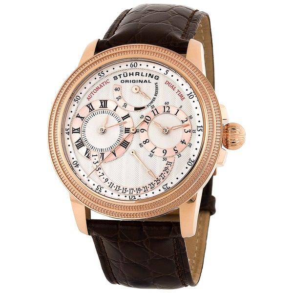 Stuhrling Original Men's Rosetone Saturnalia DT Automatic Watch