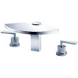 Kraus Fantasia Three-hole Bas-inch Chrome Faucet