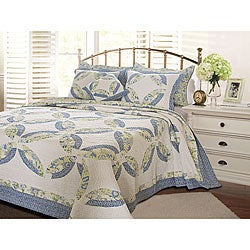 Greenland Home Fashions Francesca Oversized 3-piece Quilt Set