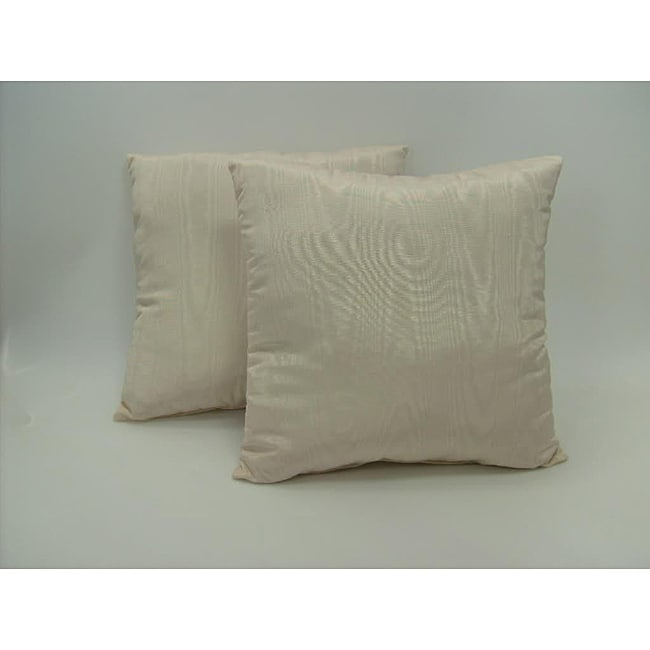 Moire Porcelain Throw Pillows (Set of 2)