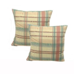 Dunham Plaid Throw Pillows (Set of 2)