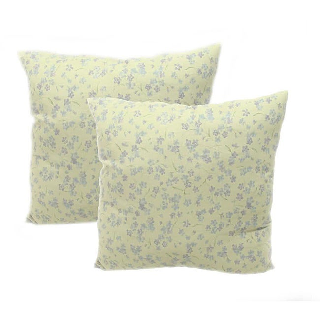 Violets Floral 18-inch Throw Pillows (Set of 2)