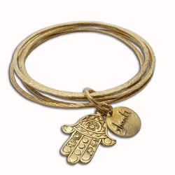 Recycled Brass Fatima Hand Bangle Bracelet (Indonesia)