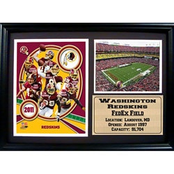 2011 Washington Redskins 12x18 Photo Stat Frame