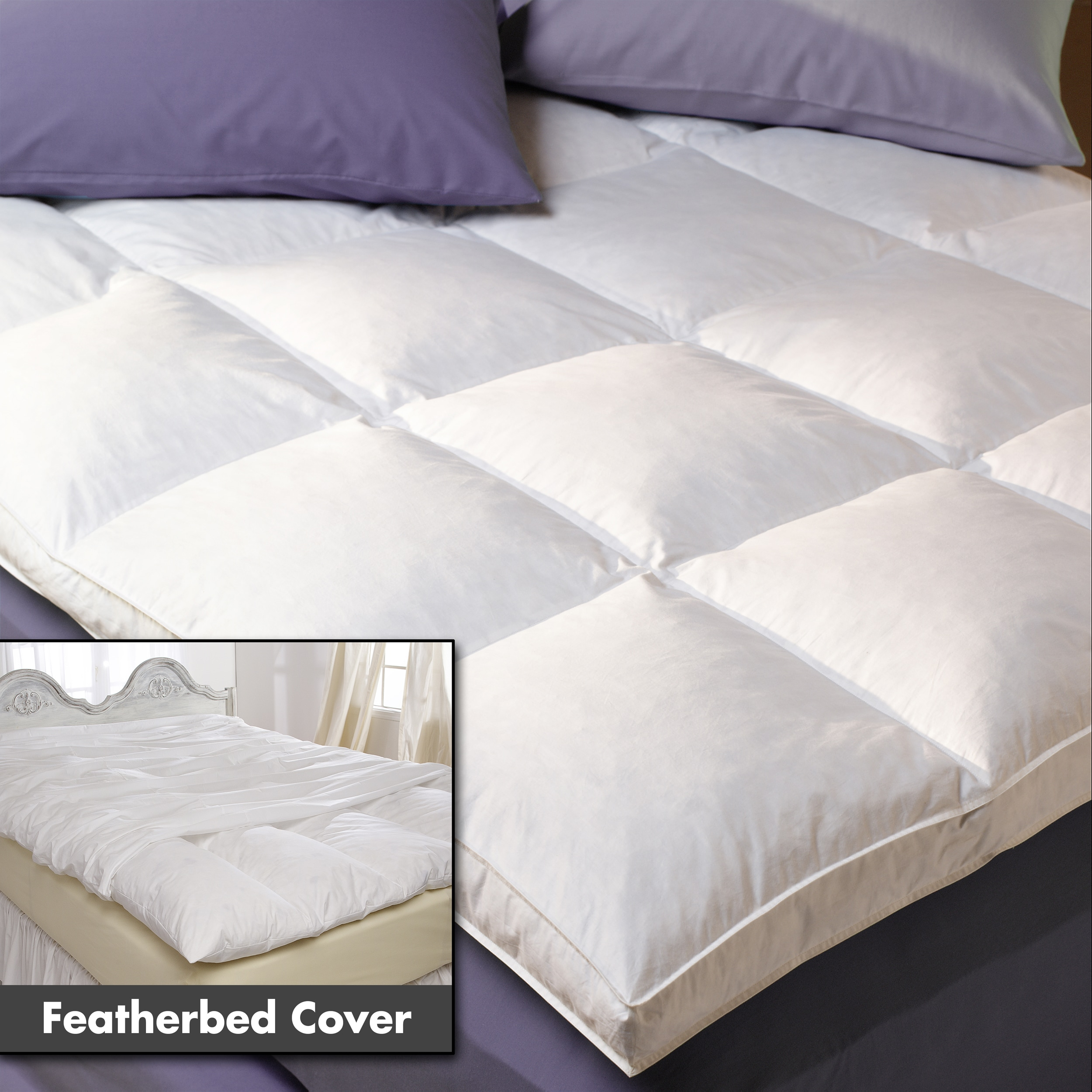 Hotel Grand Lujoso Downtop deflector Box 5 pulgadas Fuelle Featherbed