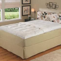 230 Thread Count 2-inch Gusseted Featherbed with Protective Zip Cover