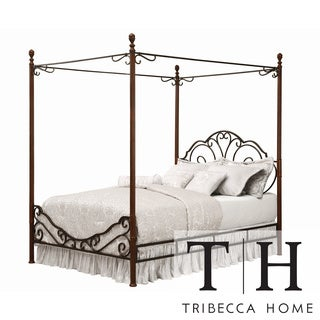 Tribecca Home LeAnn Gracefull Scrool Iron Metal Queen
