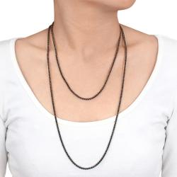 Miadora 18k Gold 27 3/5ct TDW Black Diamond 46-inch Necklace