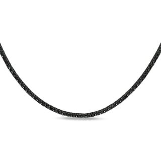 Miadora Signature Collection 18k Gold 27 3/5ct TDW Black Diamond 46-inch Necklace