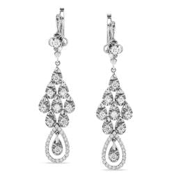 Miadora 18k White Gold 1 5/8ct TDW Diamond Dangle Earrings (G-H, SI1-SI2)