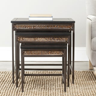 Safavieh Bedford 3-piece Wicker Accent Nesting Table