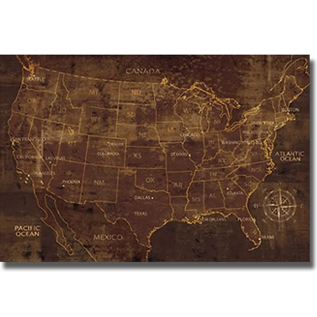 Luke Wilson 'United States' Canvas Art