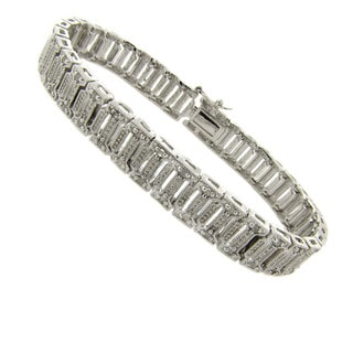 Finesque Silverplated 1/4ct TDW Diamond Bracelet (I-J, I2-I3)